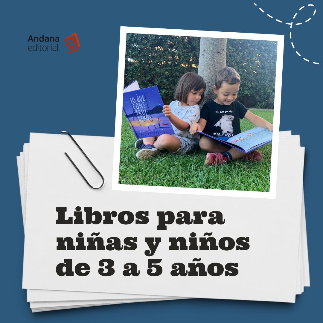 Libros para niñas y niños 3 a 5 años